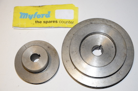main view Myford ML10 pulley for sale