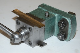 side view George Thomas rear tool post myford lathe for sale