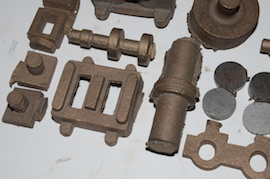 crank view Reeves Marcher Bertinat live steam engine castings for sale