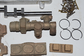 crank view Reeves Warrior MK2 Bertinat live steam engine castings for sale