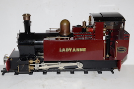 main view Roundhouse Lady Anne live steam spirit fired 16mm 32mm 45mm for sale