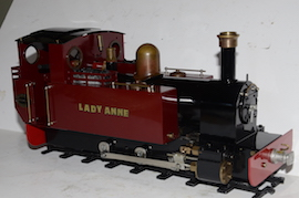 right view Roundhouse Lady Anne live steam spirit fired 16mm 32mm 45mm for sale