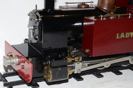front view Roundhouse Lady Anne live steam spirit fired 16mm 32mm 45mm for sale