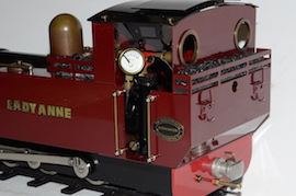rear view Roundhouse Lady Anne live steam spirit fired 16mm 32mm 45mm for sale