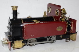 left view Roundhouse Millie live steam 32mm for sale