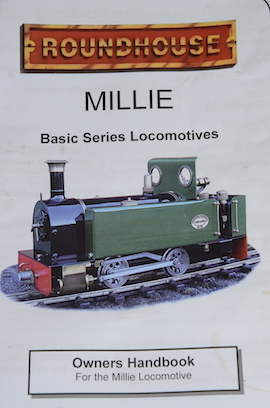 brochure view Roundhouse Millie live steam 32mm for sale