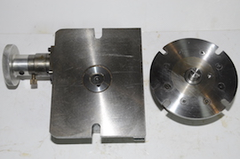 back view rotary table 4 jaw chuck milling machine  for sale
