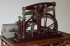 main view Sanderson live steam beam engine for sale