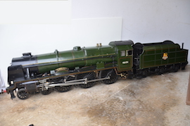 "main 5"" Royal Scot 4-6-0 live steam loco for sale"