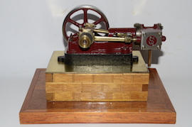 left view stuart live steam horizontal engine 10H for sale