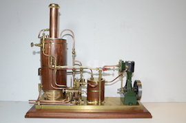 main view Keith Appleton live steam plant. Stuart 10V consender pump boiler for sale