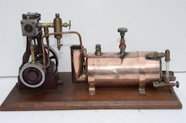 main view stuart live steam engine 10V plant with boiler for sale