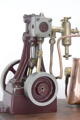 right view stuart live steam engine 10V plant with boiler for sale