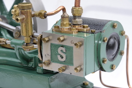 Stuart turner No 9 live steam horizontal engine for sale main view