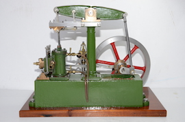 main view live stuart steam beam engine for sale