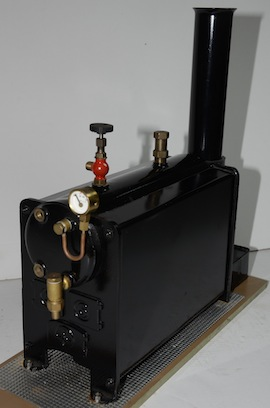 main view stuart 501 babcock live steam boiler for sale