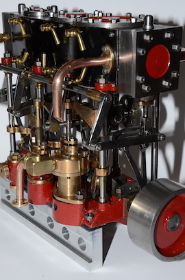 side view Stuart Triple Expansion Marine STeam engine for sale