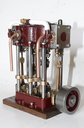 Stuart twin launch live steam engine for sale exhaust view