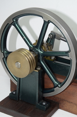 flywheel view stuart victoria horizontal live steam engine for sale