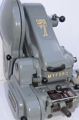 front view Myford Super 7B pcf gearbox lathe for sale SK121483