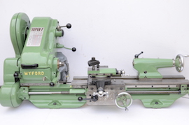 Front View Myford super 7 7B lathe for sale SK143494
