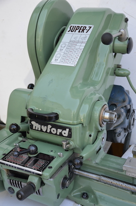 cover view Myford Super 7 ML7 ML7R lathe for sale SK163754