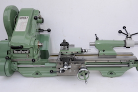 main view Myford Super 7 power cross feed lathe SK159804 for sale