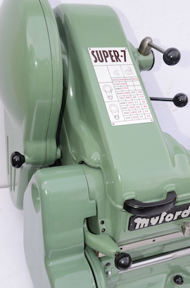 left view Myford Super 7 power cross feed lathe SK159804 for sale