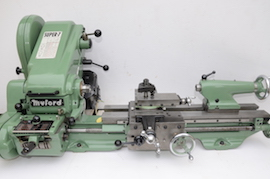 Front View Myford super 7 7B lathe for sale SK166643