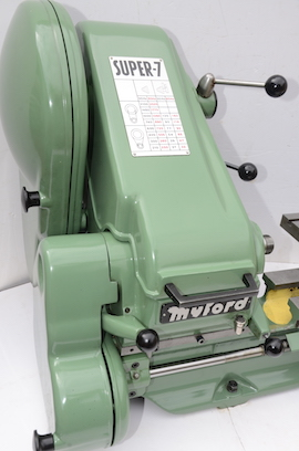 Myford Super 7 power cross feed lathe SK166804 for sale left view