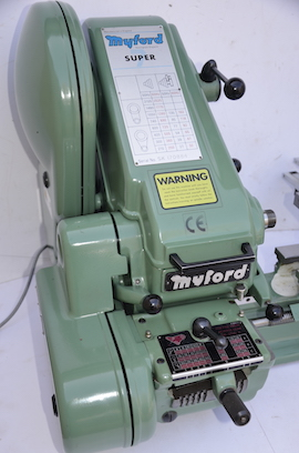 right view Myford Super 7 Induction hardened bedways dro lathe for sale SK170884