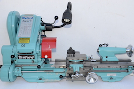 Main view big bore spindle Myford super 7 lathe for sale Metric SK170962M