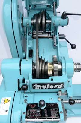 pulley view big bore spindle  Myford super 7 7B lathe for sale SK171170
