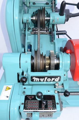 pulley view big bore spindle  Myford super 7 7B lathe for sale