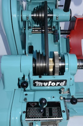 Pulley view big bore spindle  Myford super 7 7B lathe for sale SK171579