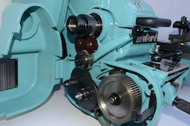 gears view big bore spindle  Myford super 7 7B lathe for sale SK171579