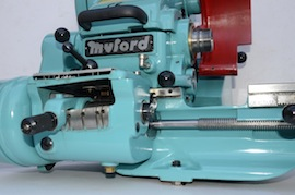 Under view big bore spindle  Myford super 7 7B lathe for sale SK171579