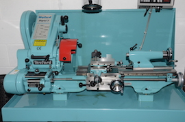 Main view big bore spindle Connoisseur Myford super 7 7B lathe for sale SK171598