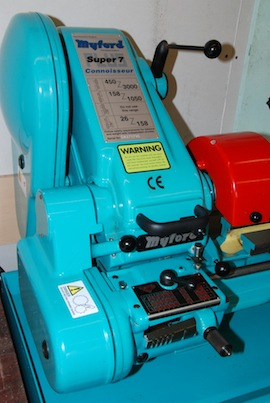Myford big bore connoisseur super 7 7B lathe for sale SK171716 front view