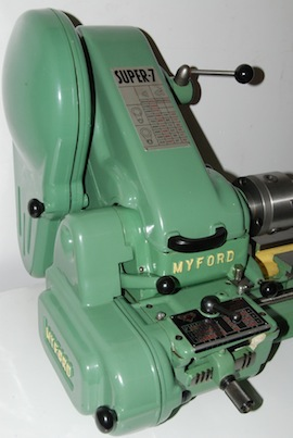 left view Myford long bed Super 7 ML7 ML7R lathe for sale SKL151161