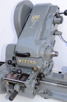 covers view Myford Super 7B Longbed lathe for sale