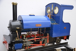 "main view Sweet Pea 5"" gauge 0-4-2 live steam loco for sale"