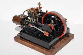 side view Reeves Double Tangye live steam engine for sale