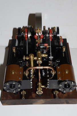cylinder view Reeves Double Tangye live steam engine for sale