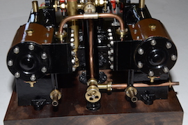 front view Reeves Double Tangye live steam engine for sale