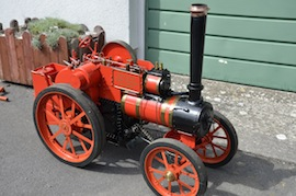 "main view 4"" A2 Tasker little giant tractor live steam traction engine for sale"