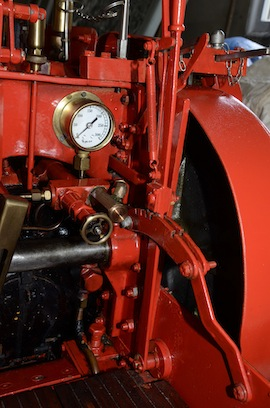 "gauge view 4"" A2 Tasker little giant tractor live steam traction engine for sale"