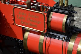 "plate view 4"" A2 Tasker little giant tractor live steam traction engine for sale"