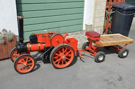 "full view 4"" A2 Tasker little giant tractor live steam traction engine for sale"