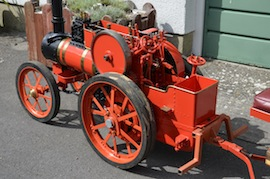 "left view 4"" A2 Tasker little giant tractor live steam traction engine for sale"